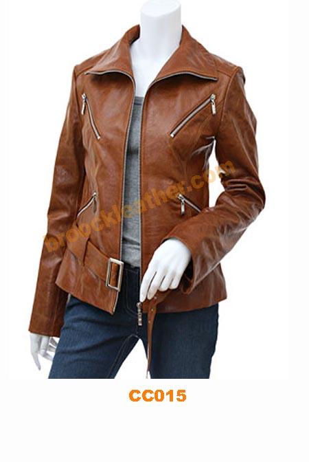 Jaket kulit Wanita » CC015 • Jaket kulit - Jual jaket kulit  386efb1f05